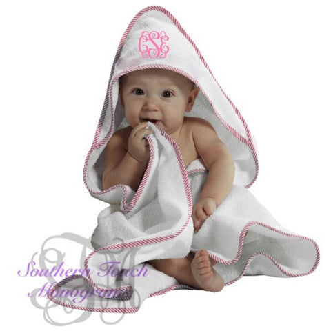 Monogrammed Hooded Baby Towel