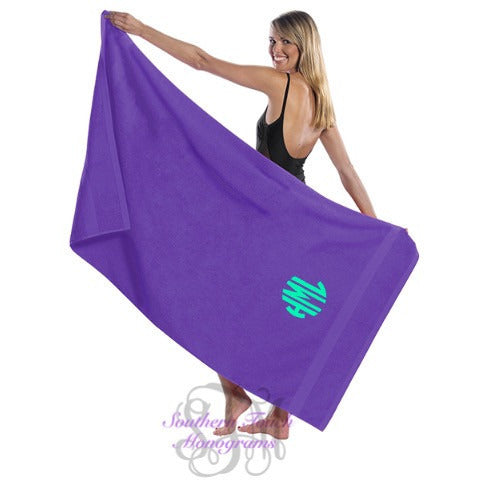 Monogrammed Terry Beach Towel