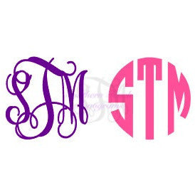 Monogram 2 Inch Decal