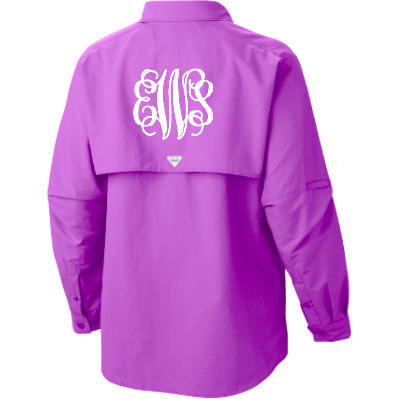 Monogrammed Ladies Columbia PFG Fishing Shirt