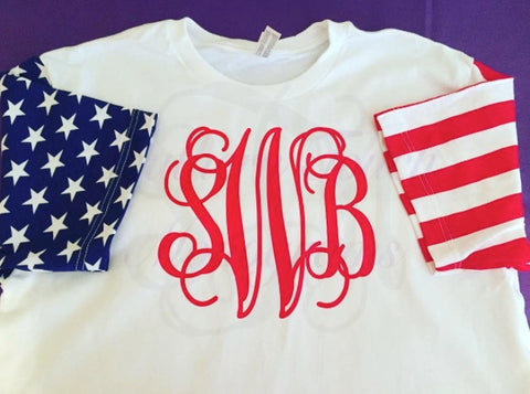 Monogrammed Stars and Stripes T-Shirt