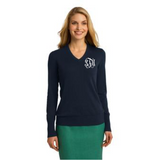 Monogrammed V-Neck Sweater