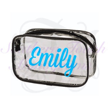 Monogrammed Clear Clutch