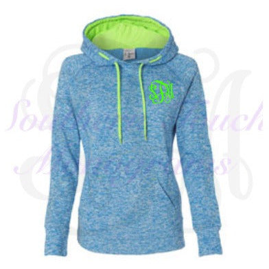 Monogrammed Ladies Cosmic Fleece Pullover Hoodie