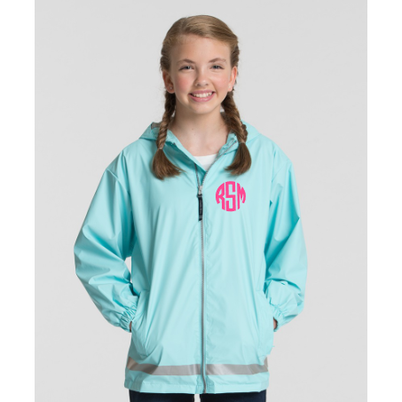 Monogrammed New Englander Youth Rain Jacket