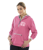 Monogrammed Anorak Pullover