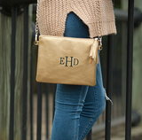 Monogrammed Gold Kendall Purse