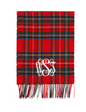 Monogrammed Patterned Cashmere Feel Scarf