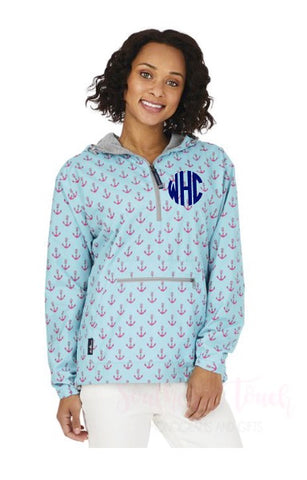 Monogrammed Anchor Anorak Pullover