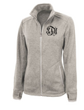 Monogrammed Heathered Fleece Jacket