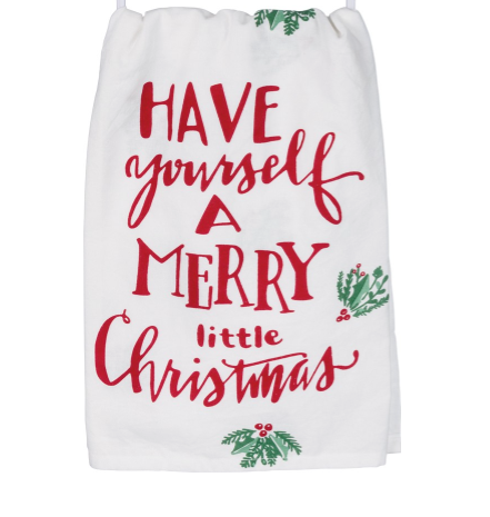 Merry Little Christmas Dish Towel