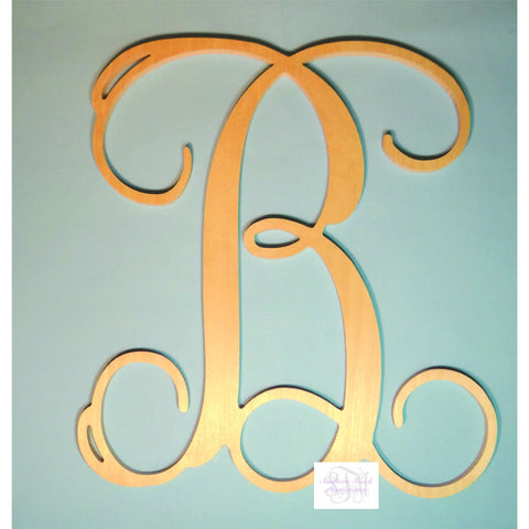 Wooden Single Initial Monogram