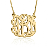 Monogrammed Circle Script Necklace
