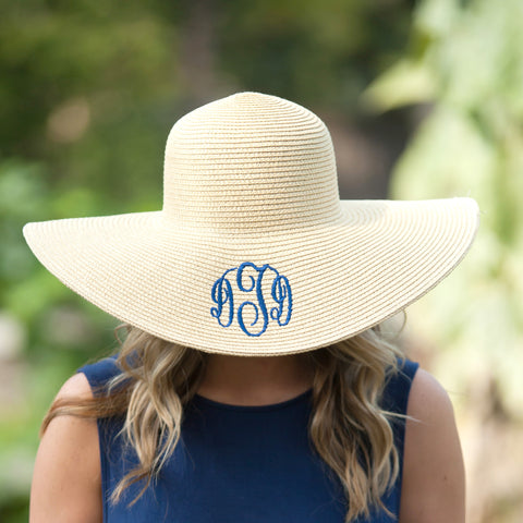 28ceb91b3e0 Monogrammed Floppy Hat – Southern Touch Monograms