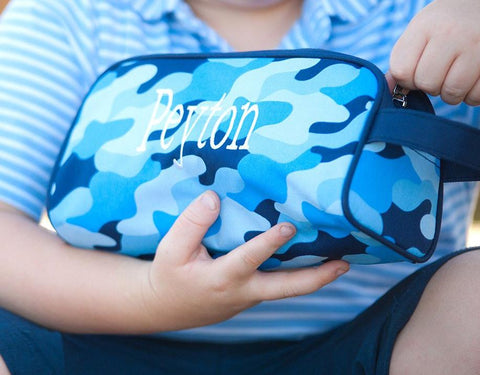 Monogrammed Cool Camo Toiletry Bag