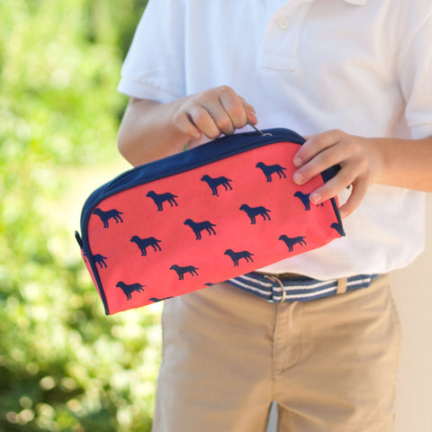 Monogrammed Dog Days Toiletry Bag