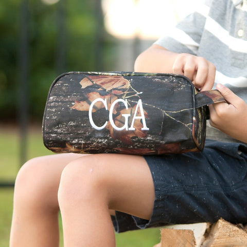 Monogrammed Camo Toiletry Bag