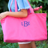 Monogrammed Hot Pink Ultimate Tote Bag