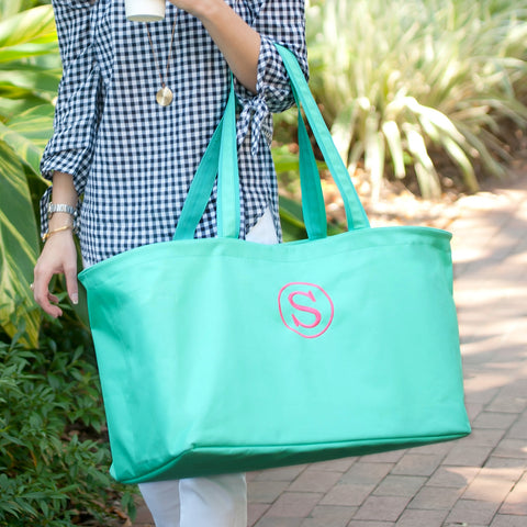 Monogrammed Mint Ultimate Tote Bag