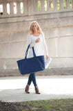Monogrammed Navy Ultimate Tote Bag