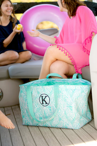 Monogrammed Poolside Palm Ultimate Tote