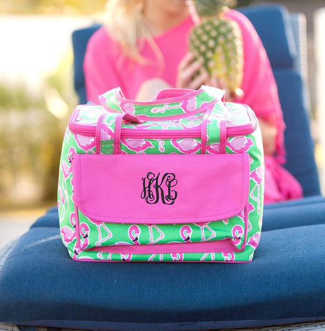 Monogrammed Flamingle Cooler Bag