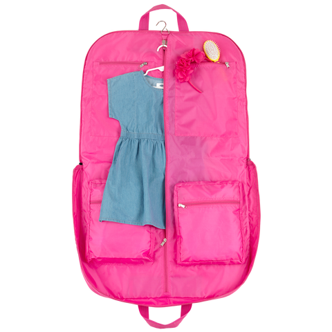 Monogrammed Seersucker Kid's Garment Bag