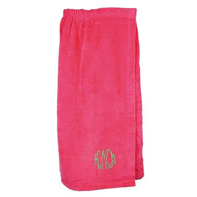 Monogrammed Terry Spa Wrap