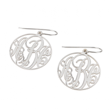 Monogrammed Classic Border Dangle Earrings