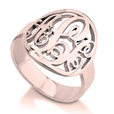 Monogrammed Classic Border Ring