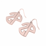 Monogrammed 2 Initial Circle Dangle Earrings