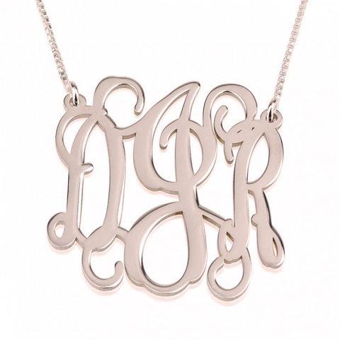 Monogrammed Vine Necklace