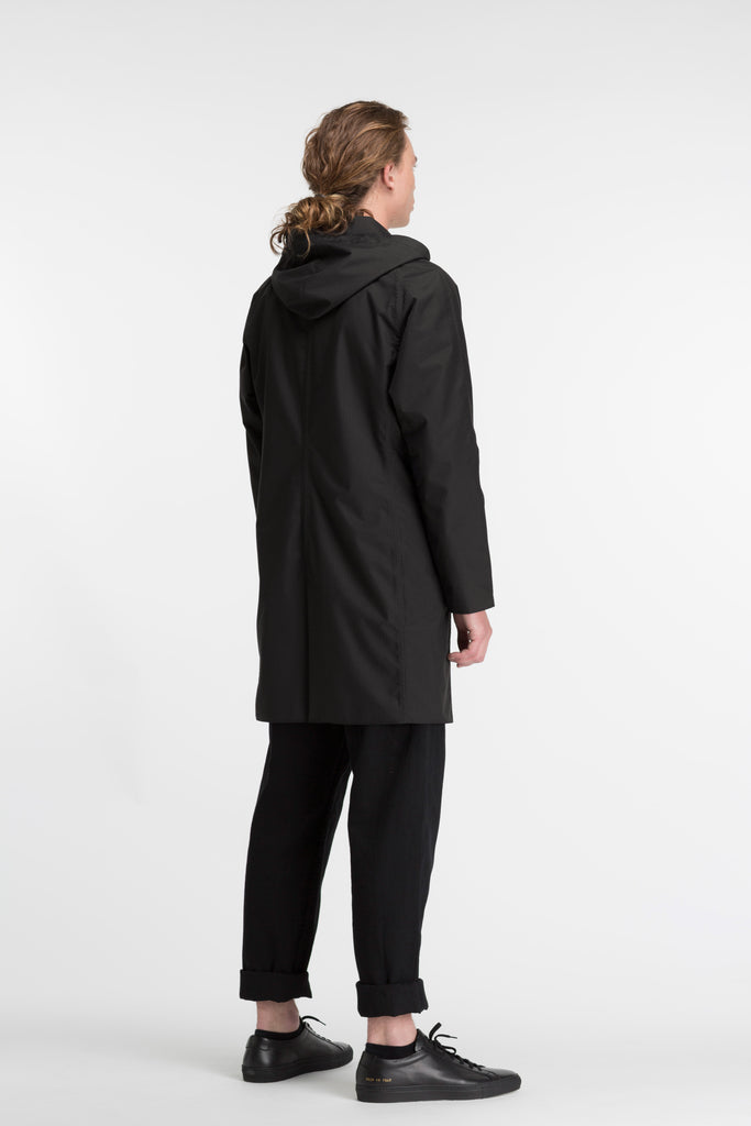 Mens Slim Overcoat | BLACK