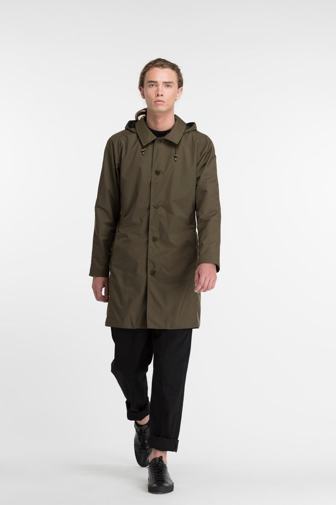 Slim Overcoat (Amherst Coat) | Olive