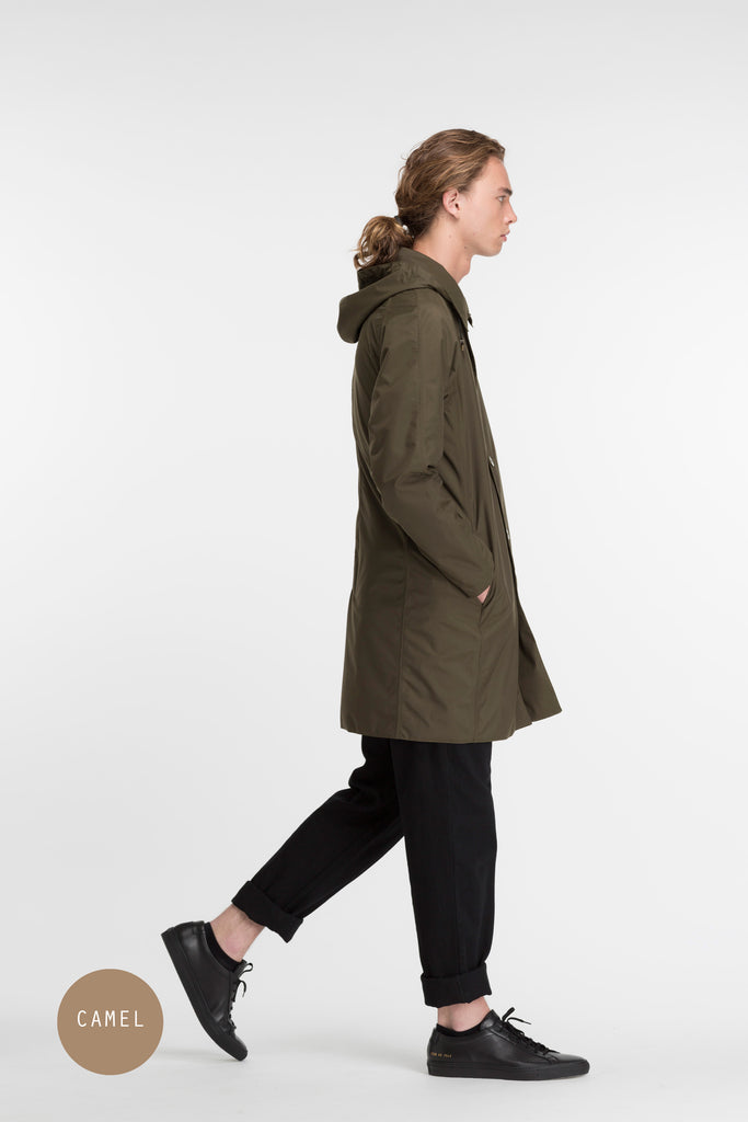 Mens Slim Overcoat | CAMEL