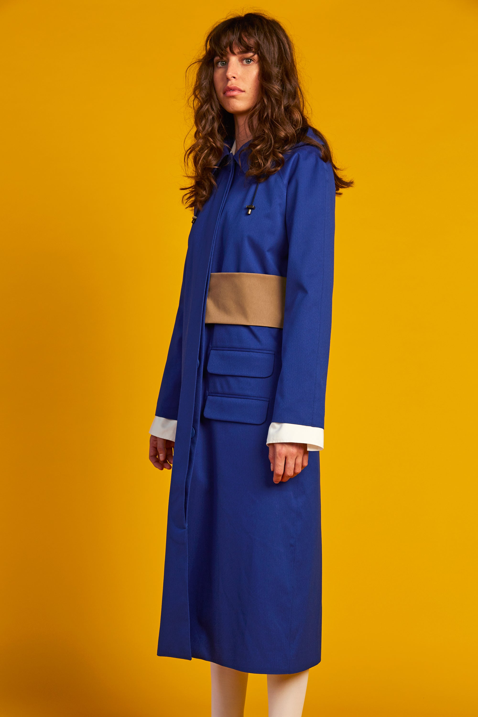 Recycled Line | Column Coat | Blue