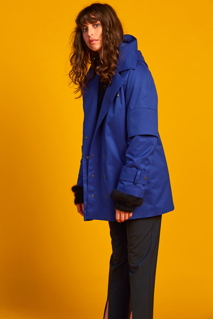 PRE-ORDER - Domed Peacoat | Blue