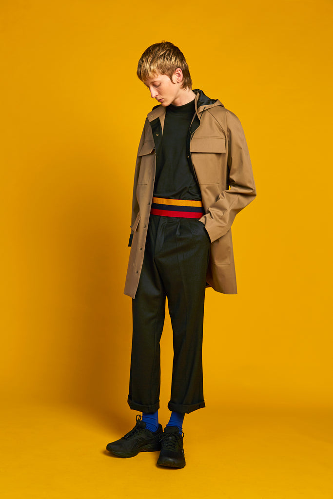 Recycled Line | Oversized Patch Pocket Coat | Camel