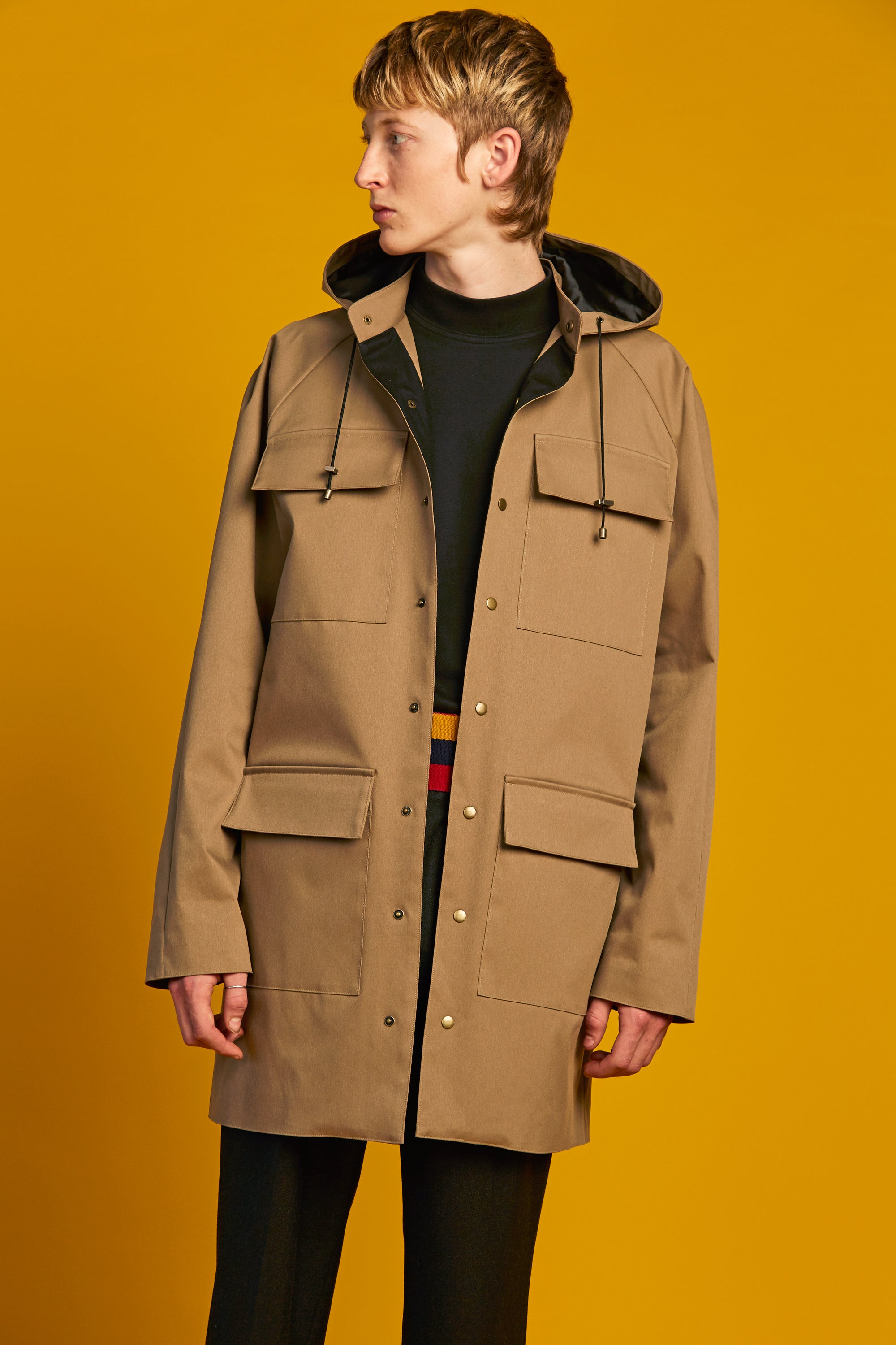 PRE-ORDER - Oversized Patch Pocket Coat | Camel