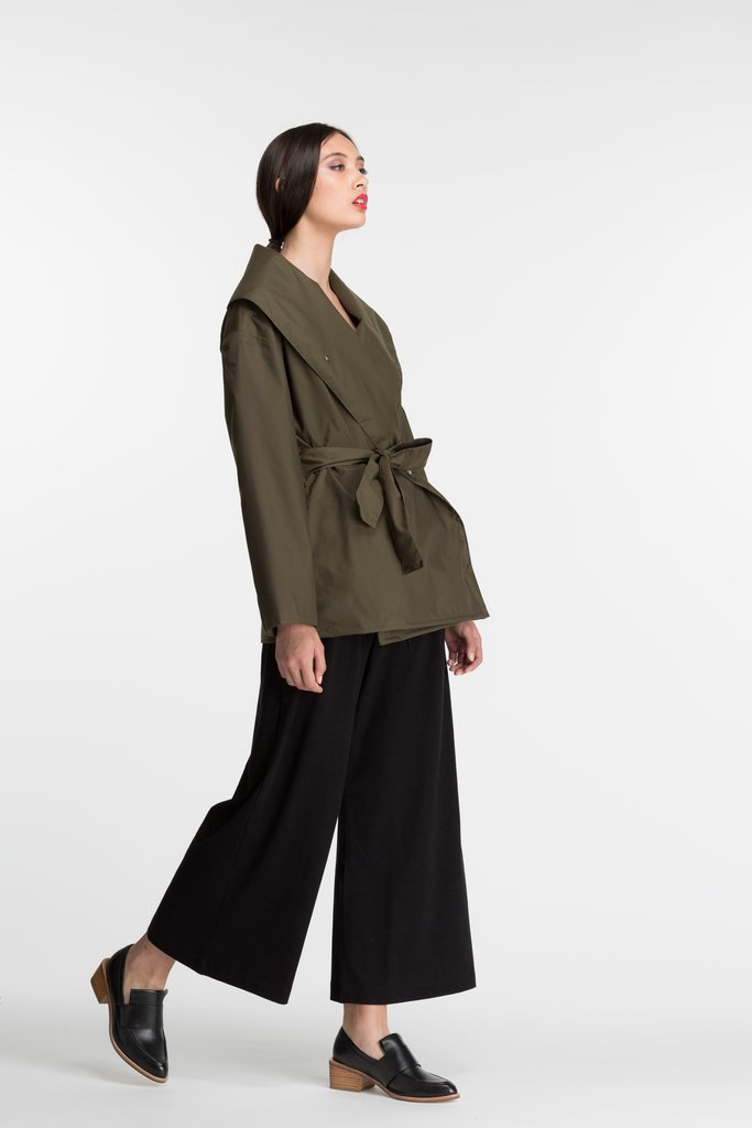 Shawl Jacket | Olive