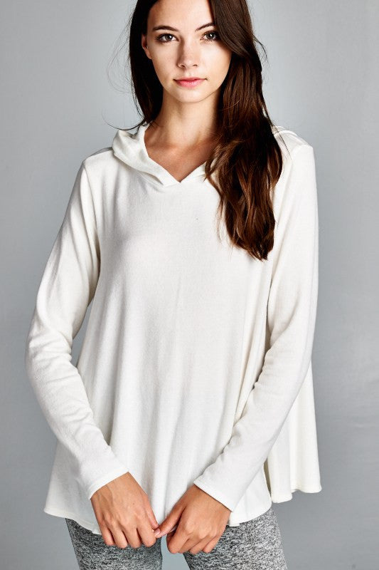 LOOSE FIT LONG SLEEVES HOODIE