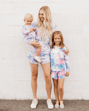 PRE-ORDER Pearl Two Piece Leisure Set - Neon Tie Dye (Infant & Toddler)