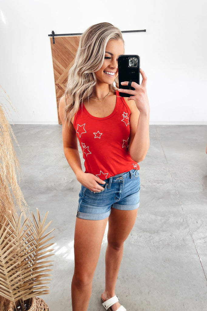 Wishing On A Star Tank - Red