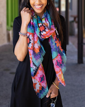 PRE-ORDER Grace & Lace Happy Days Spring Scarf - Kaleidoscope