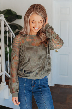 This Time Around Sweater - Olive