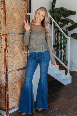 Judy Blue Bryn High Rise Flare Jeans