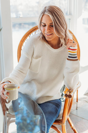 Rainbow Cuffed Sweater