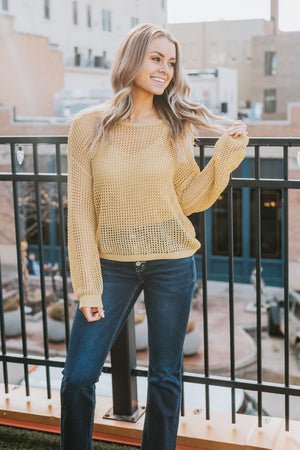 This Time Around Sweater - Mustard