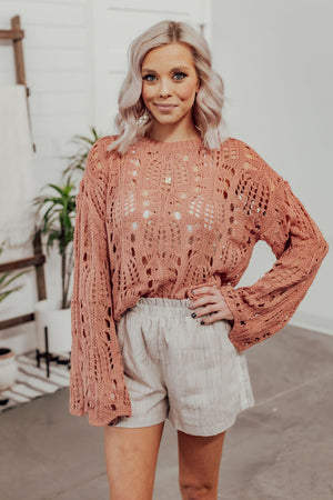 Grace & Lace Willa Wrap Top - Rose Bud