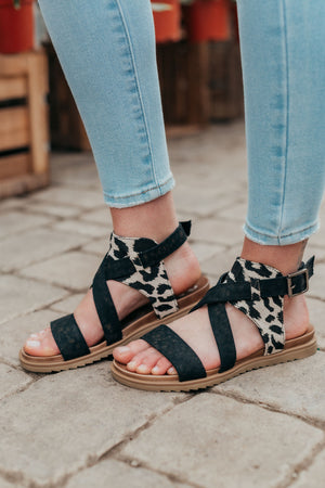 Very G Jayla Sandal - Black Cream